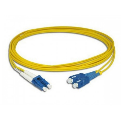 LANmark-OF Slimflex Patch Cord DSC/UPC-DLC/UPC SM LSZH 10m Yellow :: Волоконно-оптические шнуры