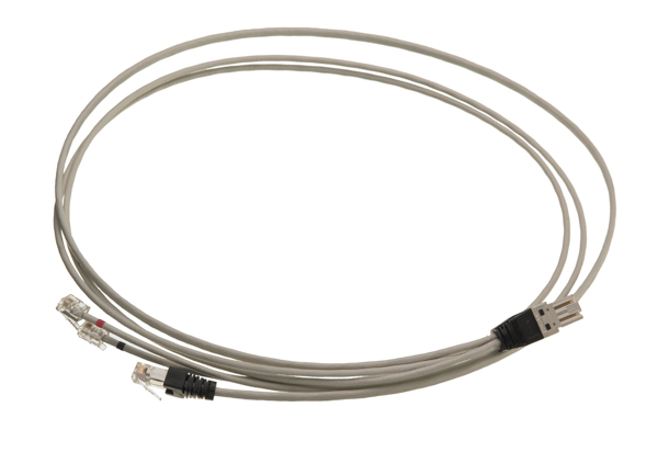 LANmark-7 Splitter Cord GG45 1xRJ45 2xRJ11 Screened LSZH 2m Light Grey :: LANmark-7