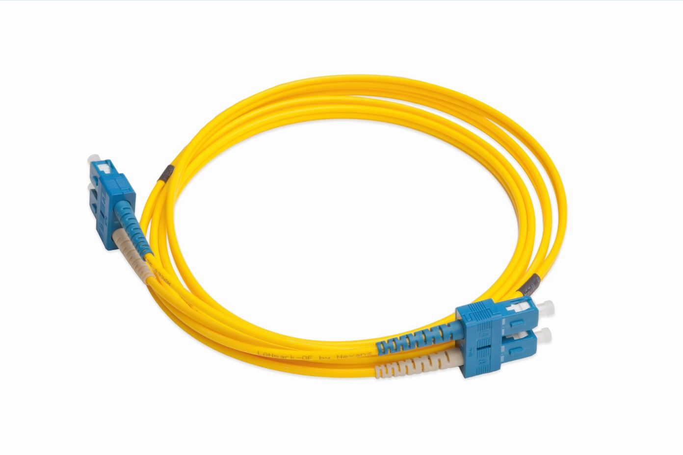 LANmark-OF Slimflex Patch Cord DSC/UPC-DSC/UPC SM LSZH 5m Yellow :: Волоконно-оптические шнуры